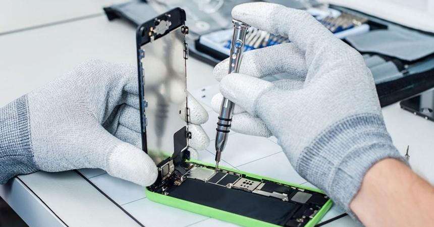 Reparos em placa de smartphone e tablet